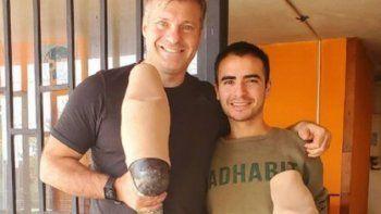 le robaron las protesis a un reconocido deportista y un joven repartidor de pizzas lo salvo