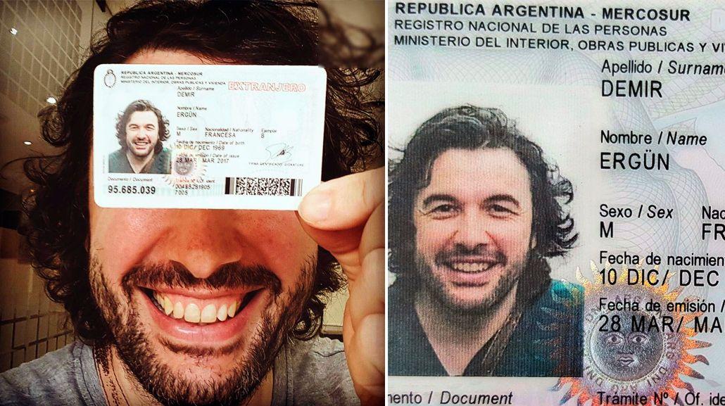 Ergün, feliz con su documento argentino