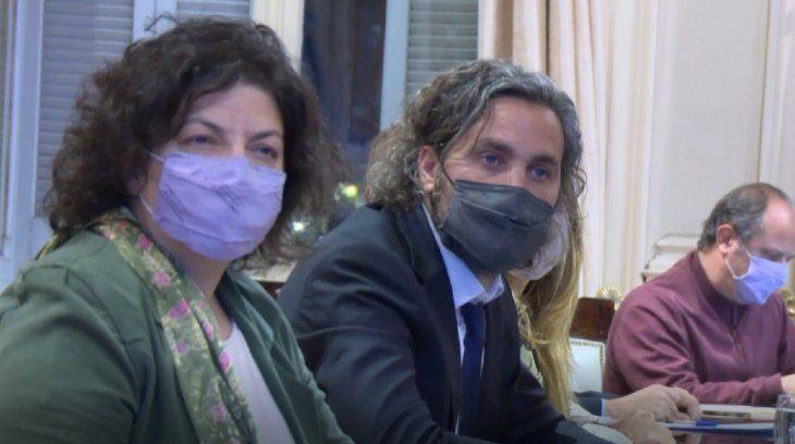 Cafiero yVizzotti se reúnen con expertos para evaluar cómo siguen las restricciones