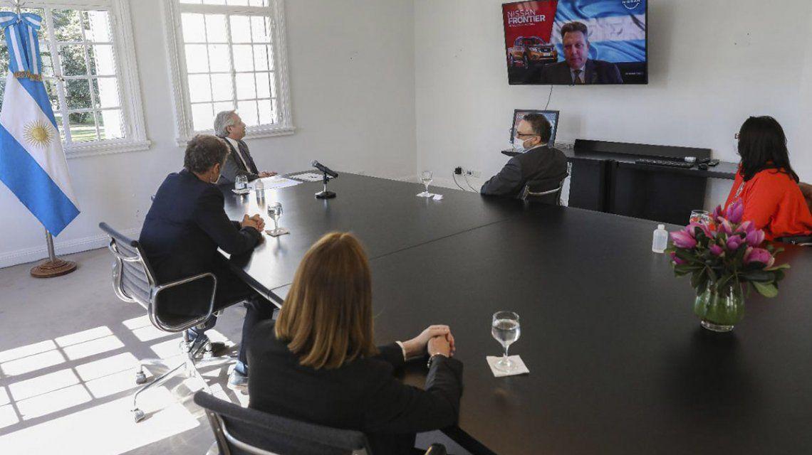 alberto-fernandez-mantuvo-una-reunioncon-los-directivos-nissan-argentina-y-guy-rodriguez-presidente-