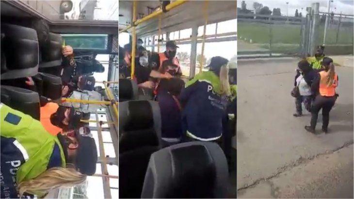 VIDEO: Así bajaron a una pasajera de un colectivo por no tener permiso