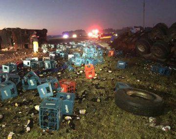 Chascomús: así rescataban a los heridos del triple choque en Ruta 2 en el que murió un bebé de 4 meses