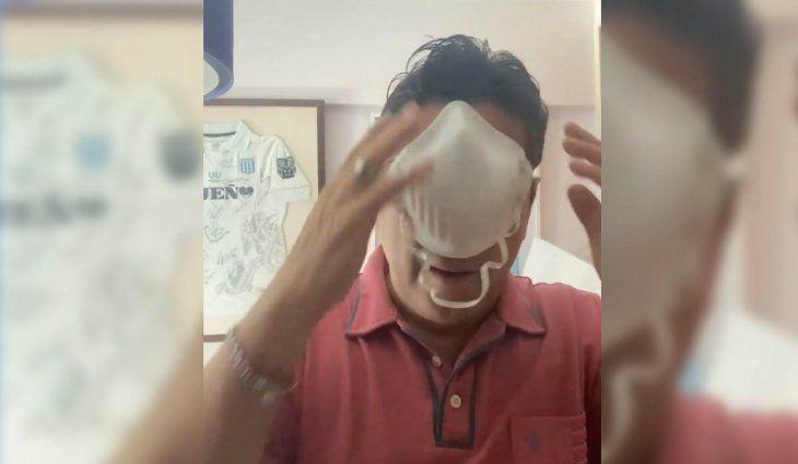 Sergio Gonal concientiza sobre el uso del barbijo