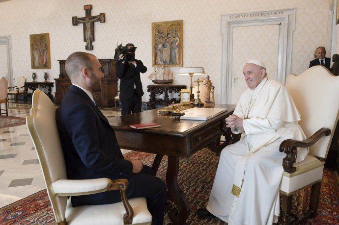 Martín Guzmán y el Papa Francisco