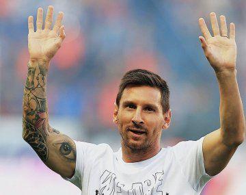 El PSG presentó a Messi en el  Parque de los Príncipes