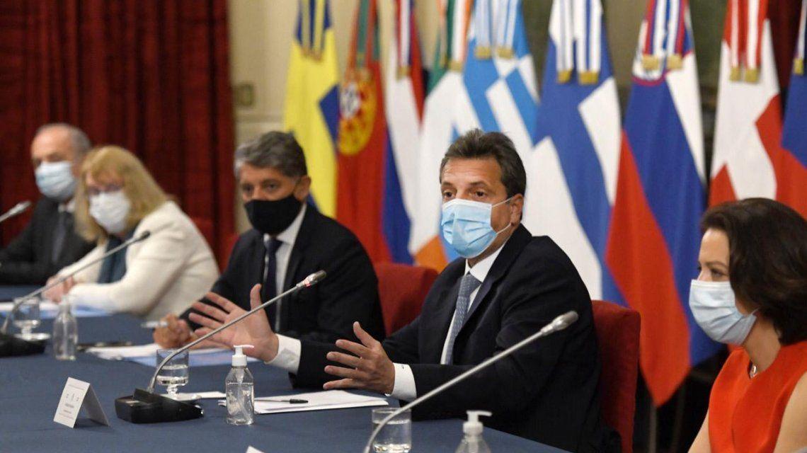 Sergio Massa recibió en Diputados a los embajadores de la UE