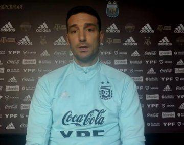 Lionel Scaloni confirmó dónde se jugará el partido entre Argentina y Brasil