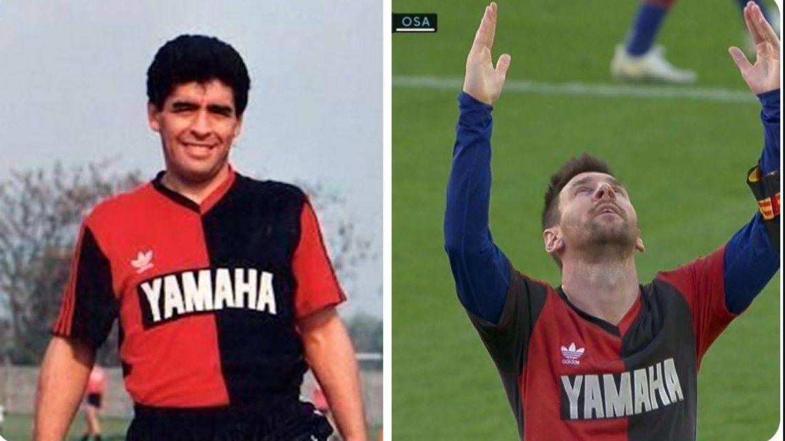 Homenaje de Lio Messi a Maradona.