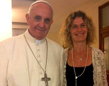 Maru Botana afirmó que ver al Papa le dio fuerzas