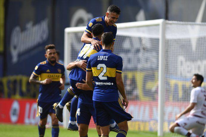 Boca le ganó a Lanús y se clasificó a los cuartos de final