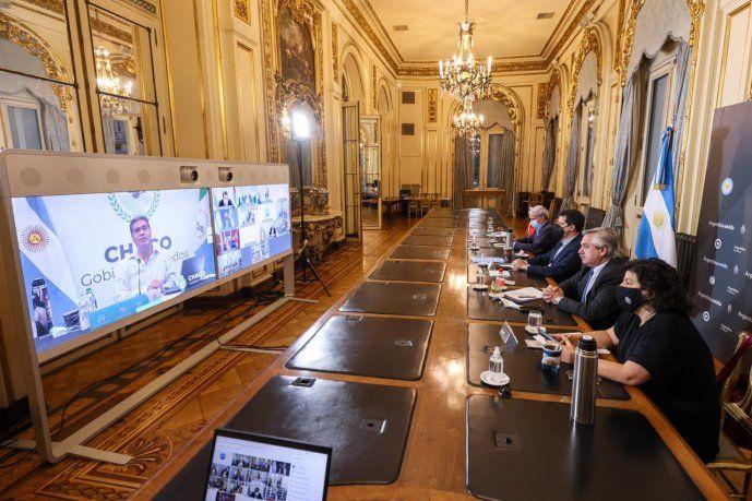 Alberto Fernández se reunió con 12 gobernadores antes de las nuevas restricciones