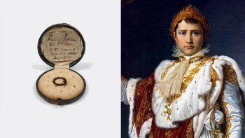 subastan cabellos, un panuelo y tela manchada con sangre de napoleon bonaparte