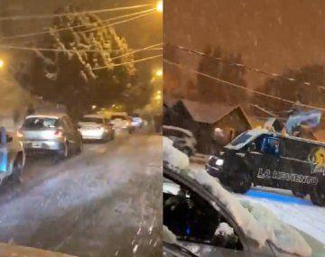 Cristina Kirchner compartió un video de los festejos en El Calafate en medio de la nieve