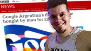nicolas kurona, el chico que compro google argentina, llego a la bbc
