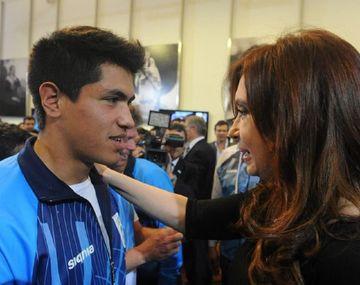 Braian Toledo y Cristina Kirchner