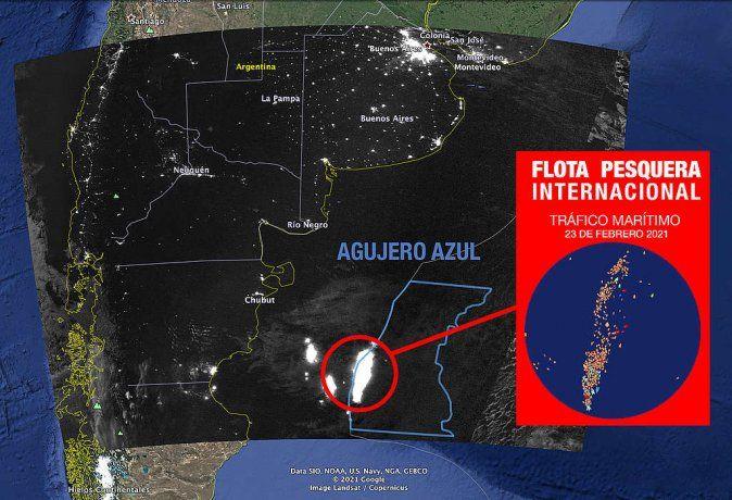 Agujero Azul: el lugar donde buques de pesca extranjeros saquean el Mar Argentino