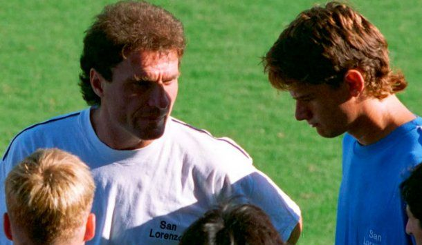 Oscar Ruggieri y Mirko Saric en San Lorenzo