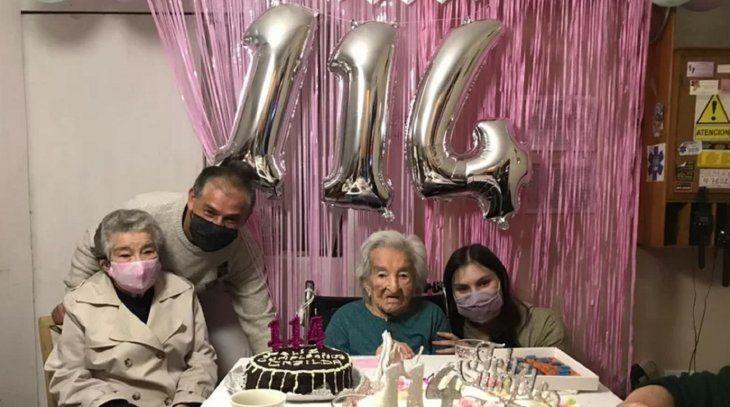 Casilda celebró sus 114 años. Foto: 0223.