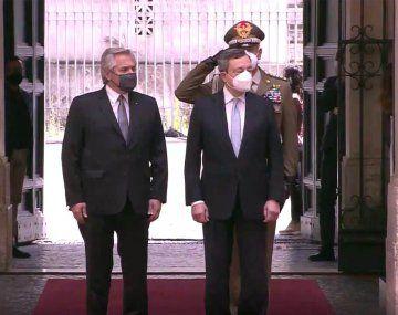 Alberto Fernández sigue su agenda en Roma: reunión con Draghi y almuerzo de honor