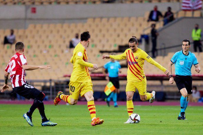 Con dos goles de Lionel Messi, Barcelona goleó al Athletic y es campeón de la Copa del Rey