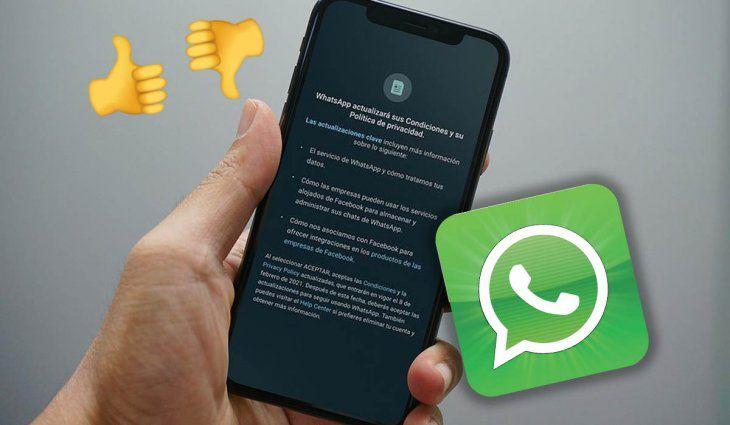 Si no aceptás sus nuevas condiciones, WhatsApp solo te permitirá recibir llamadas