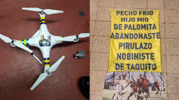 Así quedó el dron de Rosario Central que destruyó Pablo Pérez