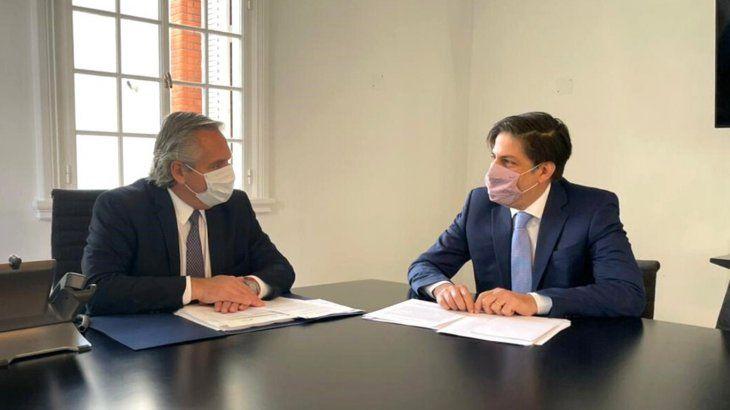 Alberto Fernández se reunió con Trotta para analizar una presencialidad administrada en colegios