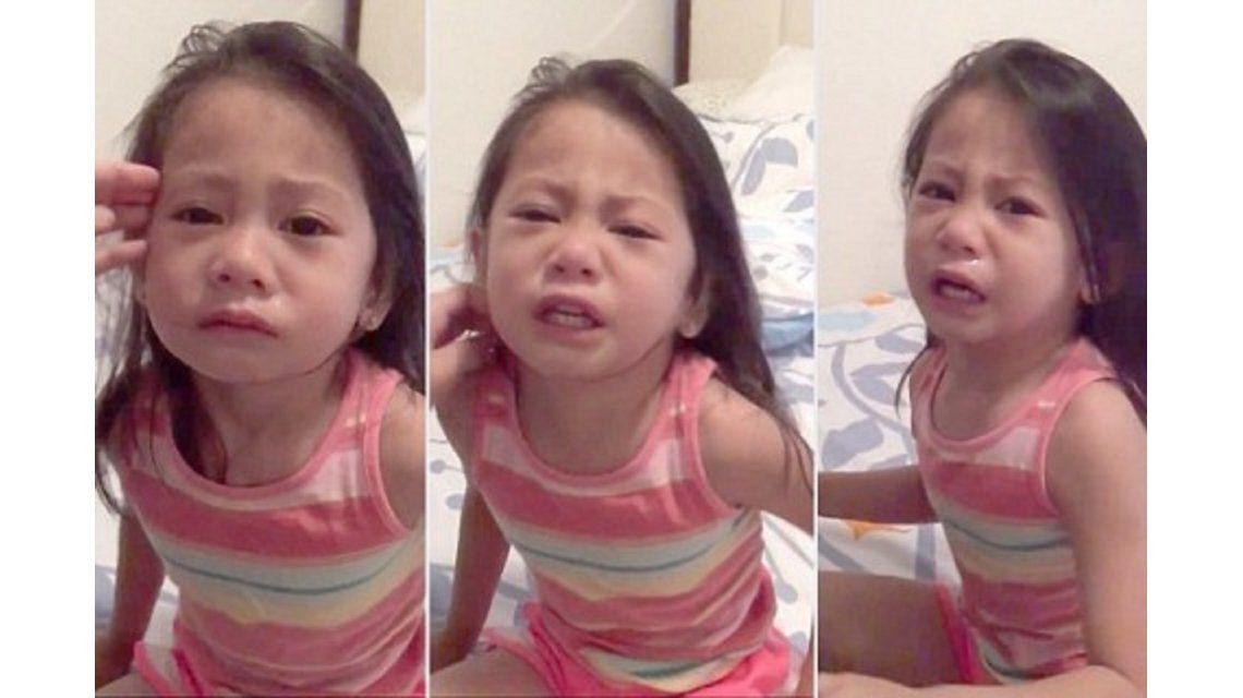 VIDEO: Una niña llora desconsoladamente creyendo que su