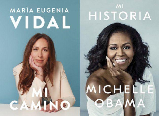 El extraordinario parecido entre los libros de María Eugenia Vidal y Mauricio Macri con los de Barack y Michelle Obama