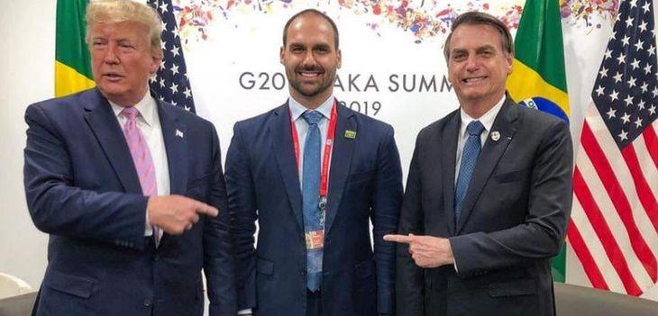 Donald Trump aprobó a un hijo  de Jair Bolsonaro como embajador en Estados Unidos