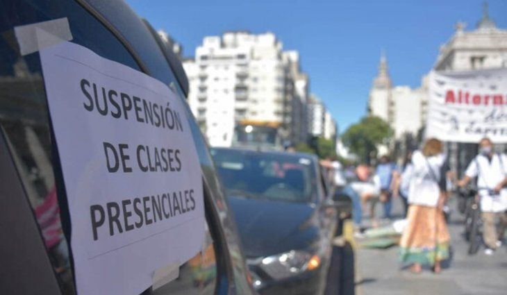 Ciudad: docentes siguen de paro por falta de protocolos en la segunda ola de Covid-19