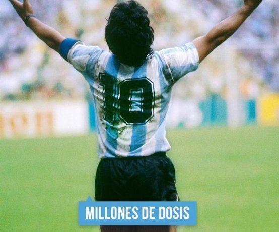 Argentina alcanzará las 10 millones de vacunas: festejos, memes y el recuerdo de Diego Maradona
