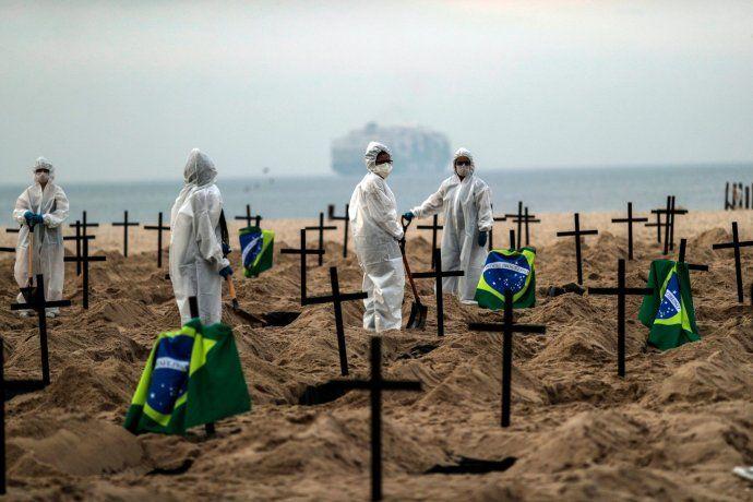 Brasil es el segundo país del mundo con mayor cantidad de muertos por coronavirus Covid-19.