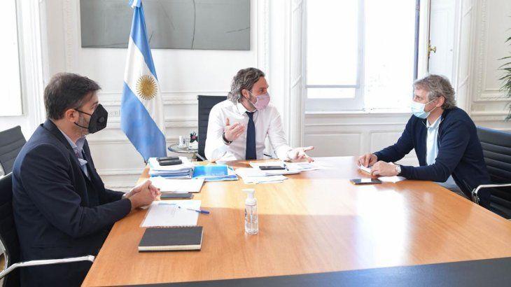 Cafiero, Bianco y Miguel se reunieron para definir nuevas restricciones