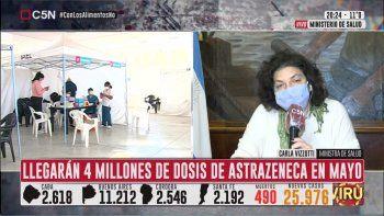 Vizzotti: Estamos cerca de cumplir con el primer hito del plan de vacunación
