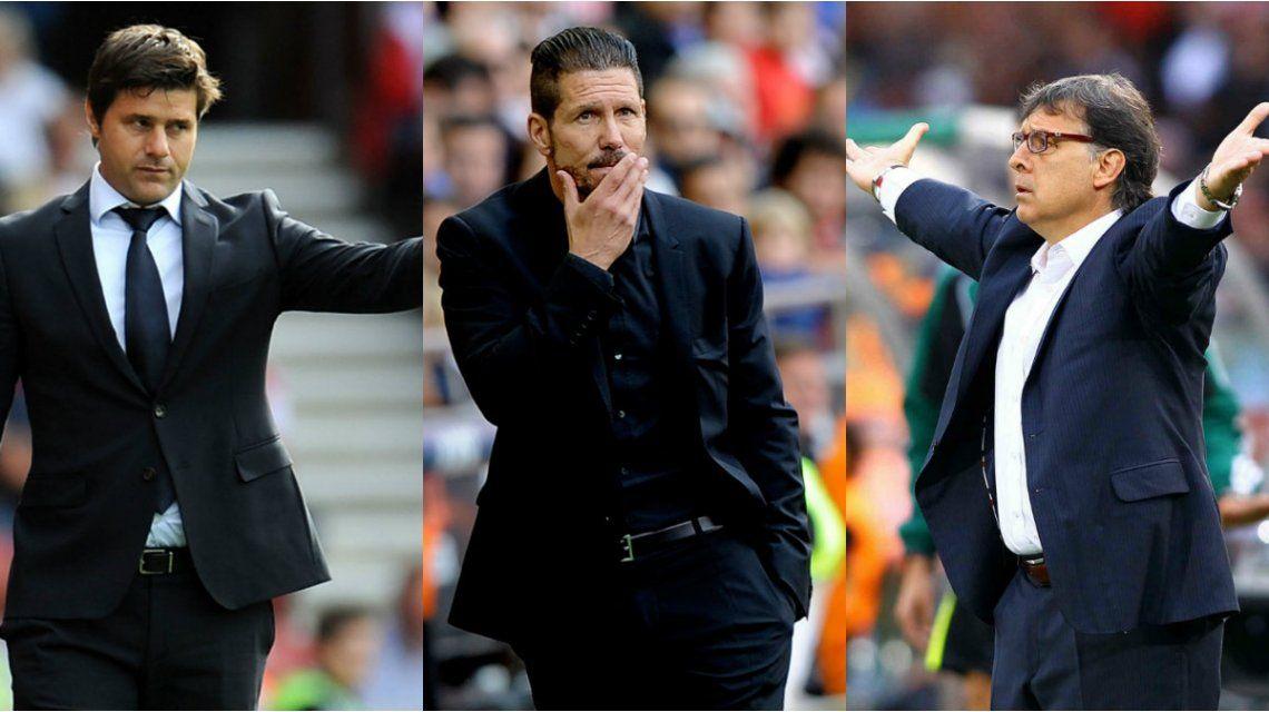 Los entrenadores argentinos Gerardo Martino