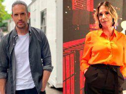 Fuerte cruce entre Diego Ramos y Ángela Lerena en vivo