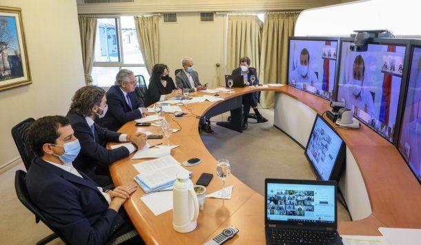 Coronavirus: el Presidente encabeza por videoconferencia la reunión con los gobernadores y el jefe de Gobierno de la Ciudad