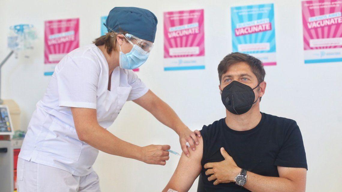 Vacuna contral el coronavirus: Axel Kicillof se dio la segunda dosis este miércoles