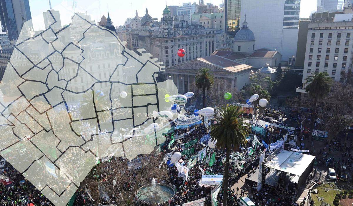 Marcha y cronograma de los cortes por la marcha de la CGT en la Ciudad