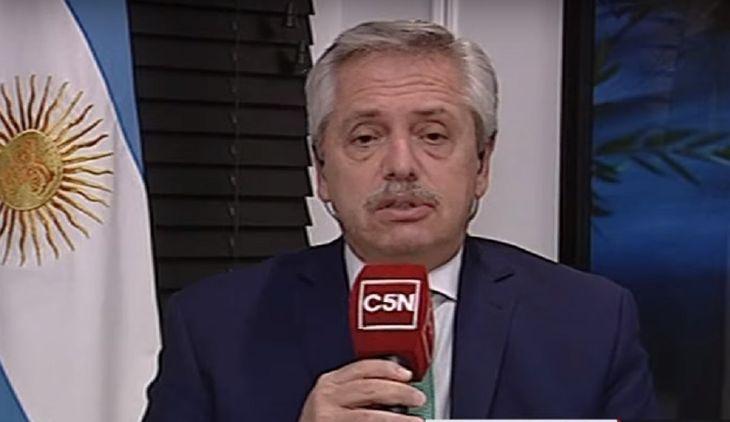 Ver C5N en vivo: Alberto Fernández en Brotes Verdes con Alejandro Bercovich