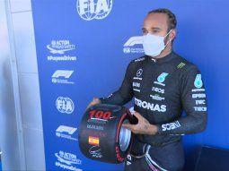 Lewis Hamilton logró su pole 100 y larga adelante de todos en el Gran Premio de España de F1