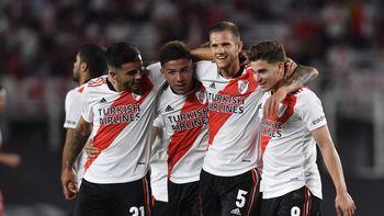 River goleó a Argentinos y le saca nueve puntos a Talleres de Córdoba