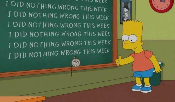 Incumplieron la cuarentena y los castigaron como a Bart Simpson