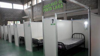 montaron un hospital de campana en el polideportivo diego maradona para atencion extrahospitalaria
