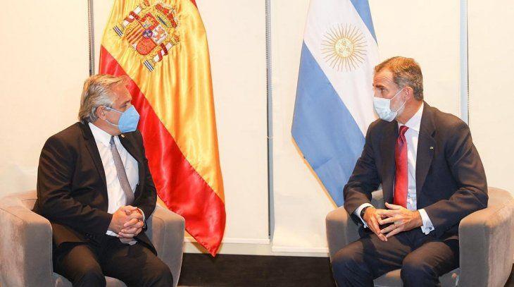 Alberto Fernández se reúne con el Rey de España