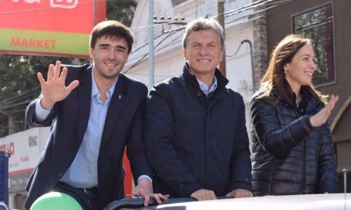 Ezequiel Galli, Mauricio Macri y María Eugenia Vidal