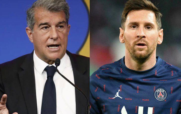 Laporta confundió a Pedri con Messi en su renovación