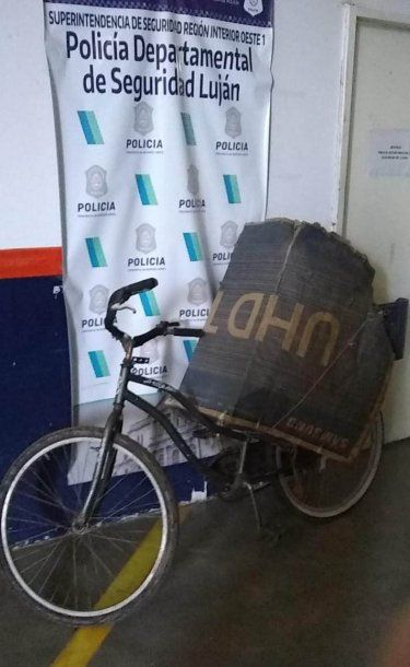 La bicicleta incautada al secuestrador de Maia