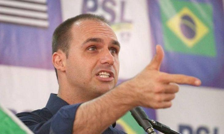 Eduardo Bolsonaro fue el diputado más votado de Brasil en los comicios de 2018